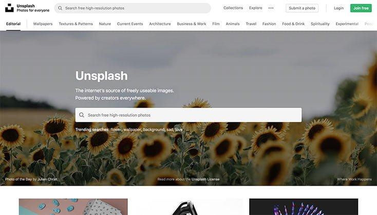 Unsplash - Gratis billeder